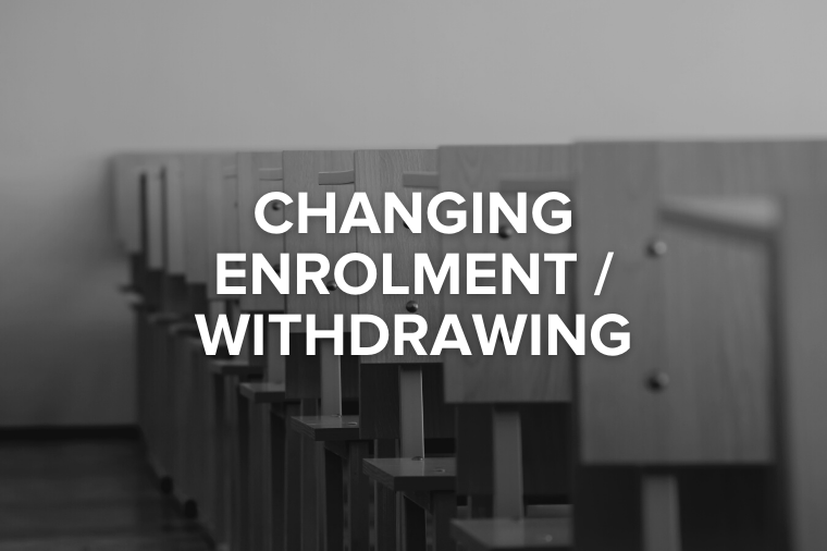 Changing Enrolments & Withdrawals image
